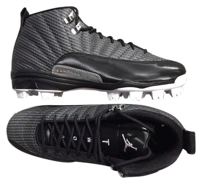 hot sales aa049 aef11 ... xii retro 9c658 520c9  top quality air jordan cleats baseball size15 black  white athletic fc07e c0804