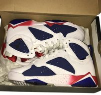 Air Jordan red blue white Athletic
