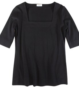 Akris Black Elbow Sleeve Oh T Shirt
