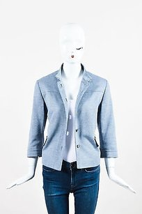 Akris Punto Blue Black White Gray Jacket