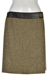 Akris Punto Wrap Skirt Tan