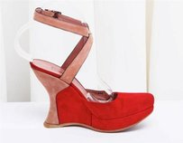 ALAÏA Alaia Womens Suede Red Platforms