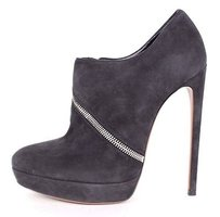 ALAÏA Alaia Gray Suede Zip Dark Grey Boots