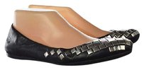 ALAÏA Alaia Womens Black Ballet Studded Leather Casual Slip On Multi-Color Flats