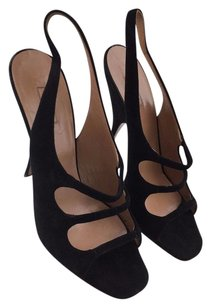 ALAA Alaia Paris Suede Open Black Pumps