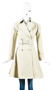 ALAA Alaia Khaki Cotton Blend Trench Coat