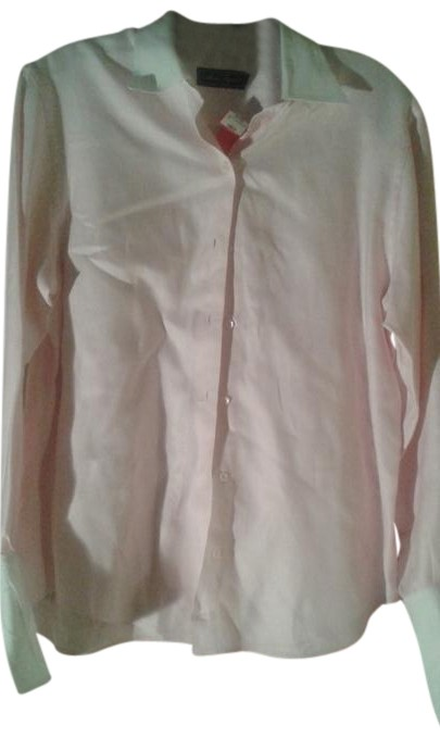 Pale Pink Shirt Button-down Top Size 10 (M)
