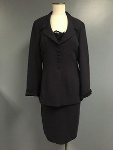 Albert Nipon Albert Nipon Evening Blue Sequin Top Pencil Skirt And Blazer Suit Sma5563