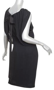 Alberta Ferretti short dress Black Womens Silkrayon Sleeveless Draped Shift 404 on Tradesy
