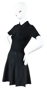 A.L.C. short dress Black Knit Ribbed Ss Collared on Tradesy