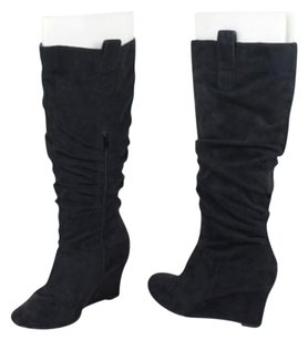 ALDO Womens Synthetic Knee High Wedges Heels Black Boots