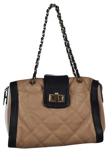 ALDO Womens Black Beige Satchel in Multi-Color