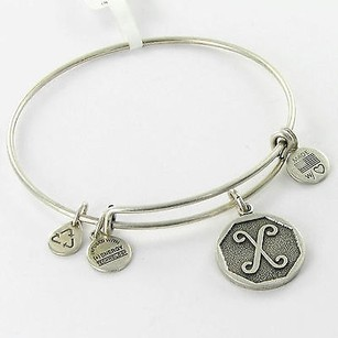 Alex and Ani Alex Ani Bracelet A13eb14xs Octagon Initial X Expandable Russian Silver