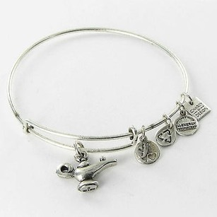 Alex and Ani Alex Ani Cbd13awrg Lamp Of Light Wish Come True Bracelet Russian Silver