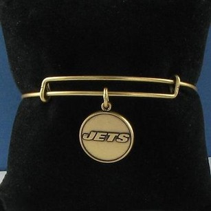 Alex and Ani Alex Ani York Jets Round Nfl Expandable Ewb Bracelet Russian Gold