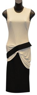 ALEXANDER MCQUEEN Black White Size 38 Xs Dress