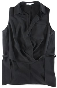 Alexander Wang Alexander Black Sleeveless Jc Top