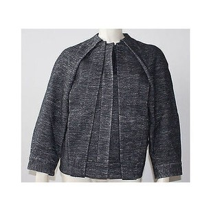 Alexander Wang Charcoal Velveteen Collarless Coat Hs1264 Gray Jacket