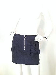 Alexander Wang Dark Mini Mini Skirt Blue