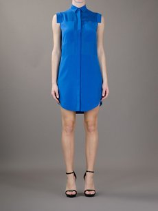 Alexander Wang short dress Blue T By Royal Sheer Paneled Silk Chiffon Mini Shirt 10l on Tradesy