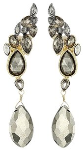 Alexis Bittar Alexis Bittar Crystal Encrusted Rocky Pyrite Dazzling Red Carpet Earrings