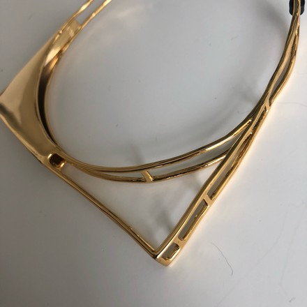 Alexis Bittar Gold-tone Liquid Gold Architectural choker necklace