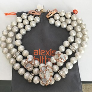 Alexis Bittar NEW Alexis Bittar 'Candied Fruit' Faux Pearl Rose Gold Lucite Choker N