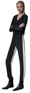 Alexis Black White Silk With Tags Colorblock Pants