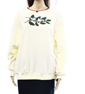 Alfred Dunner 100% Polyester Crewneck Sweater