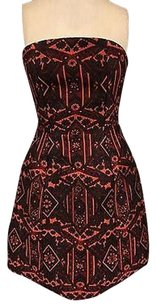 Alice + Olivia Strapless Jacquard Floral Structure Mini 5229a Dress