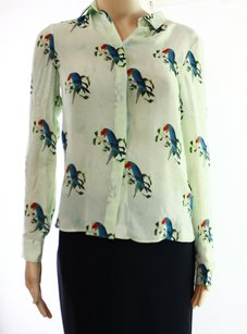 Alice + Olivia Button Down Shirt Long Sleeve Top