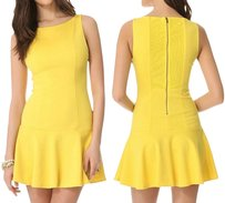 Alice + Olivia short dress Yellow Nwt Fit & Flare on Tradesy