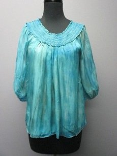 Alice + Olivia And Silk Half Sleeves Lined Sm1838 Top turquoise/green