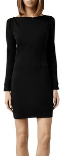 AllSaints Emelle Split Sleeve Black Boatneck Cocktail Clubwear Lbd Dress
