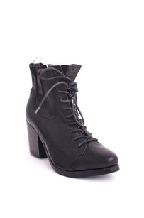 AllSaints Leather Oval Black Boots