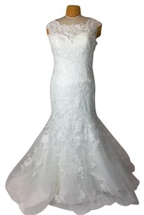 Allure Bridals Ivory Lace 2864 Formal Wedding Dress Size 16 (XL, Plus 0x)