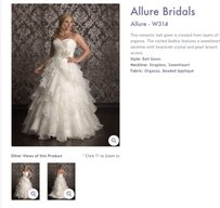 Allure Bridals Allure W314 Wedding Dress