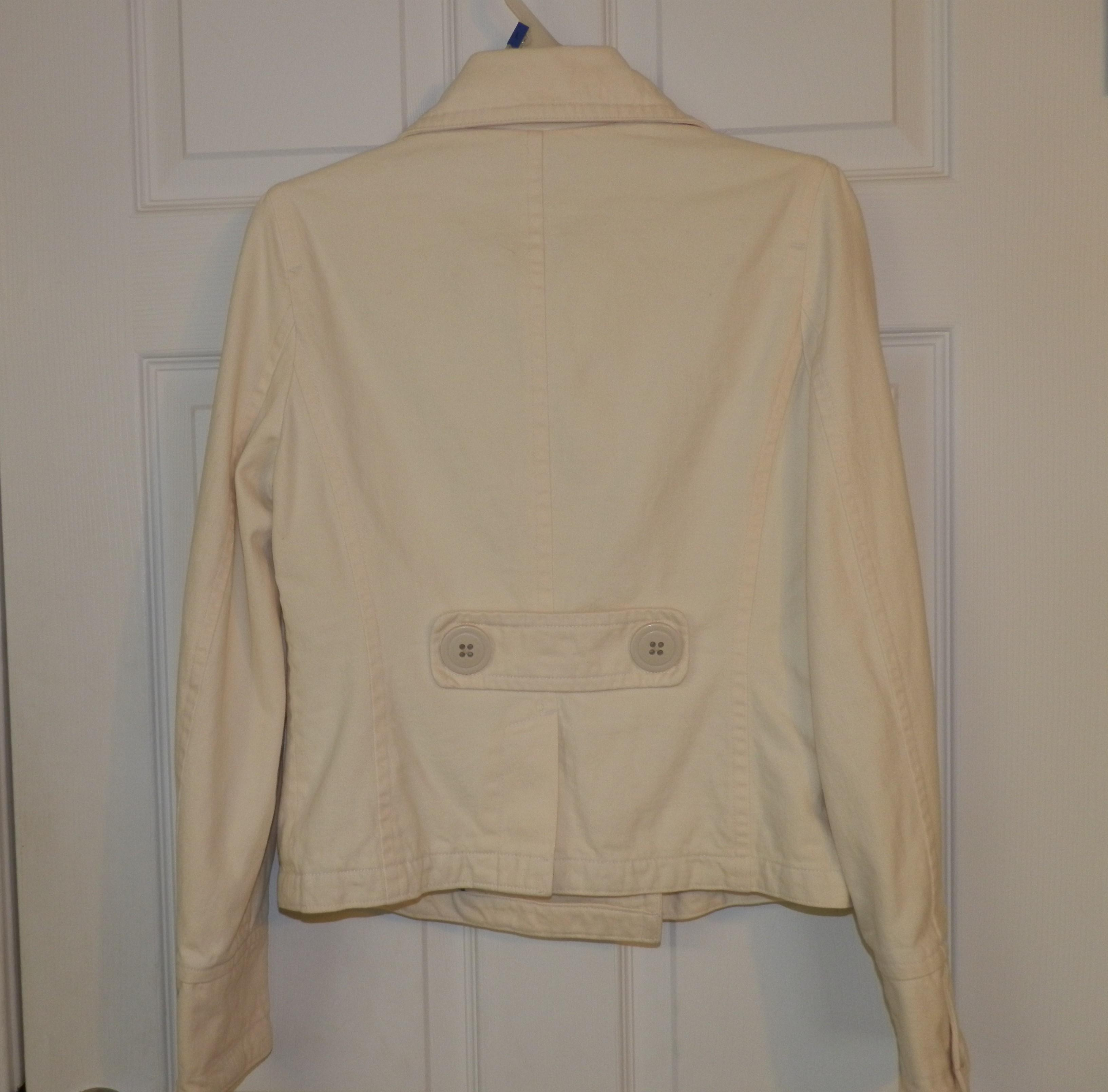 American Eagle Outfitters Off White Cream Color Pea Coat