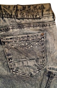 Amethyst Jeans Stretchy Comfy Embellished Embroidered Studded Skinny Jeans-Acid
