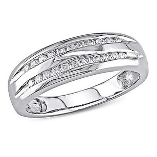 Amour 10k White Gold 16 Ct Tdw Multi-row Band Ring H-i I2-i3