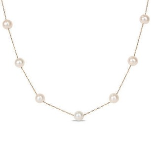 Amour 10k Yellow Gold 7.5-8 Mm Freshwater Cultured Pearl Strand Necklace 17