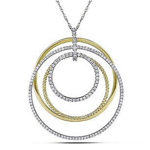 Amour 14k Two-tone Gold 1 Ct Tdw Diamond Pendant Necklace G-h Si1-si2 17