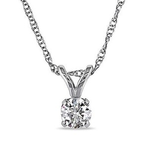 Amour 14k White Gold 15 Ct Tdw Certified Diamond Pendant Necklace G-h I1-i2 Igl 17