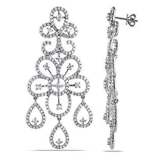 Amour Amour 14k White Gold 5-12 Ct Tdw Diamond Dangle Earrings G-h Si1-si2