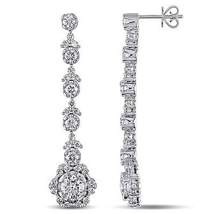 Amour Amour 18k White Gold 12 Ct Tdw Diamond Earrings G-h Si1-si2
