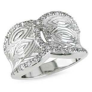 Amour Amour Sterling Silver Cubic Zirconia Cocktail Ring