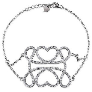 Amour Amour Sterling Silver Cubic Zirconia Fashion Bracelet 1.71 Ct Tgw 8
