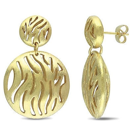 Amour Amour Womens 18-karat Matte-finish Gold-plated Metal Dangle Earrings