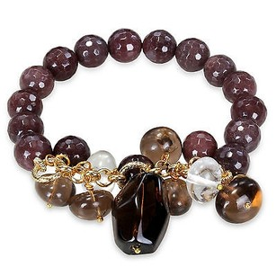 Amour Brass 200 Ct Labradourite Beads Multi Shape Color Quartz Beads Stretch Bracelet