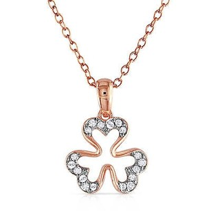 Amour Rose Pink Sterling Silver 110 Ct Tdw Diamond Pendant Necklace H-i I2-i3 18